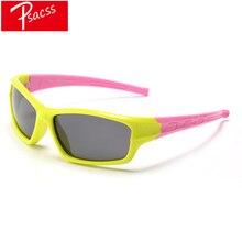 Psacss Childrens Goggle Polarized Kids Sunglasses Girls Boys Vintage Brand Silicone Frame Sun Glasses Fashion Gafas Infantil