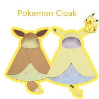Anime Pokemon Pikachu Eevee Cloak Cosplay Costume Pokemon Coat Hoodie Halloween Party Cosplay Costume