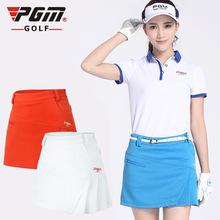 Pgm Womens Golf Tennis Skirts Pleated Short Skirt Female High Waist Golf Training Sportwear With Safety Shorts D0371
