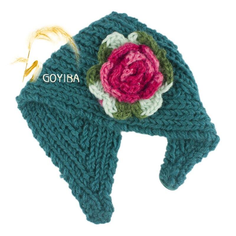 Goyiba 6 Farben Frauen Winter Mischung Farbe Blume Häkeln Stricken