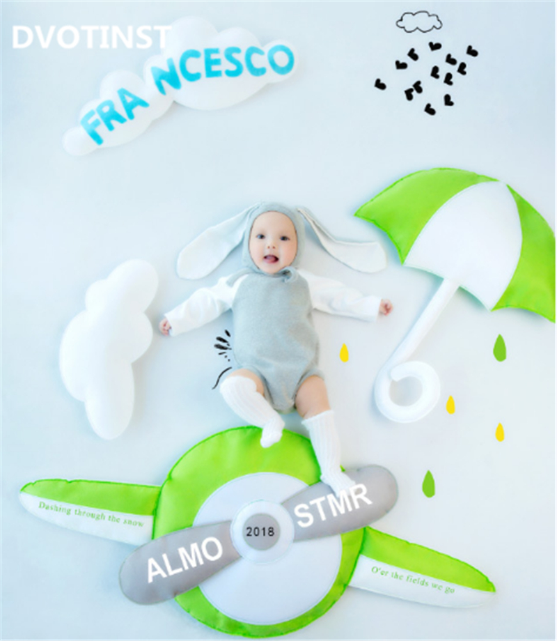 Dvotinst Baby Photography Props Aircraft Theme Background Costume Clothes Set Fotografia Accessory Studio Shooting Photo Props цены
