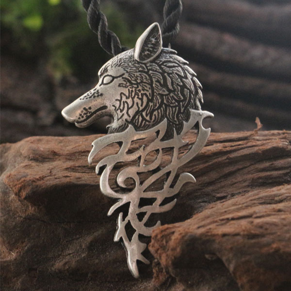lanseis 1vnt drophipping hot sell viking vilkas karoliai karoliai - Mados papuošalai - Nuotrauka 3