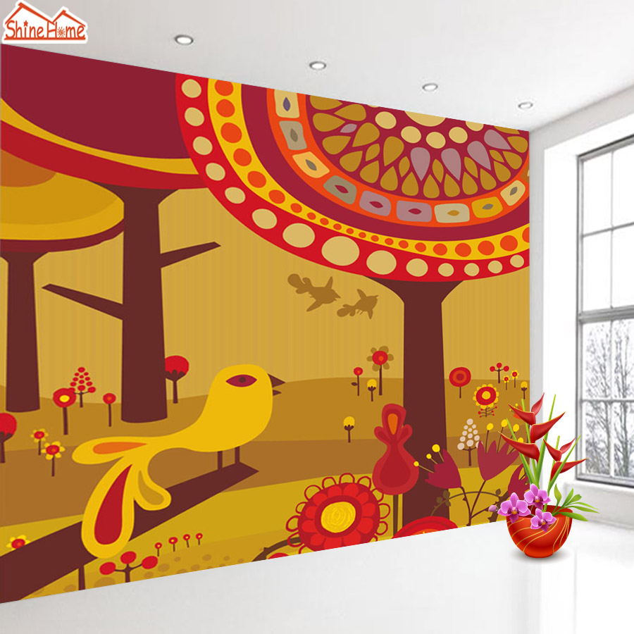 ShineHome-Classical Tree Bird Wall Picture Wallpapers 3d Wallpaper for Walls 3 d  Living Room Wall Paper Wallpaper Murals Roll shinehome skyline sea wave sunset seascape wallpaper rolls for 3d walls wallpapers for 3 d living rooms wall paper murals roll