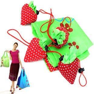 105 pcs/lot Foldable Shopping Bag Strawberry Bag Christmas Gift Fruit Foldable Bag