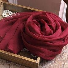 Винтажный шарф Rashion, Ювелирный шарф, высокое качество, винно-красный, для танца живота, для бедер, шарфы, 100 чистый шелк, креп, пашмина и шаль, Женская Весенняя накидка