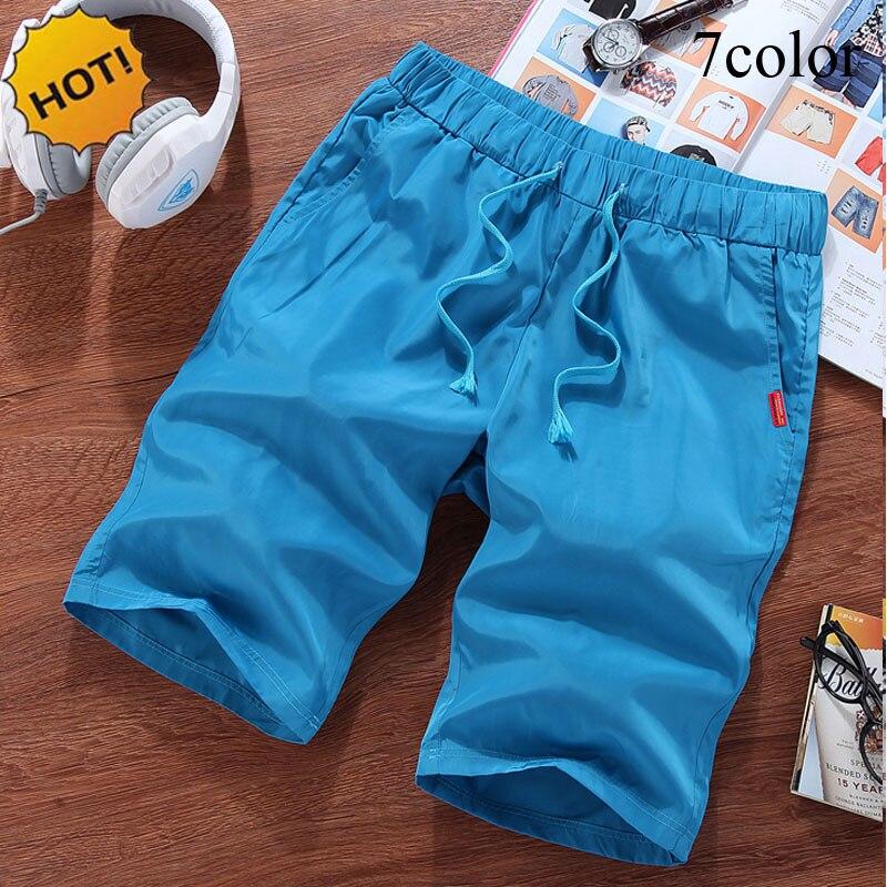 Summer Style Outdoor Sport Ultra-light Thin Drawstring Loose Quick-Drying Joker Shorts Men Solid Quick-drying Beach Short