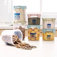 Multi-functional Clear Plastic Sealed Cans Storage Tank Kitchen Dry Food Containers Home Grain Jar