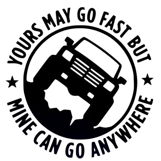 15cm15cm creative 4x4 yours may go fast mine can go anywhere funny car stickers