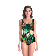 3D Print Summer women clothing art abstract skull Swimsuit high quality Beach Style Bodysuits  swimsuit Dropshipping