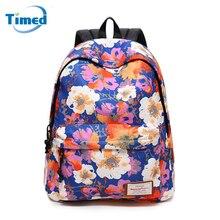 Сезон: весна–лето Новая мода цветочные печати рюкзак девушки студенты Школьные ранцы Большой Ёмкость путешествия Рюкзаки для женщин