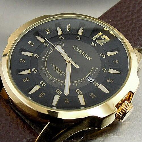 Prix pour 2016 New Top marque de luxe Curren hommes montres hommes Quartz Date horloge homme en cuir montres de sport militaire montre - bracelet