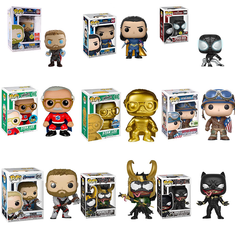 FUNKO POP Figures Marvel Toys Movie Figura Thor Action Figure Limited Collection Doll Model 335# Kids Gifts With Box 10CM