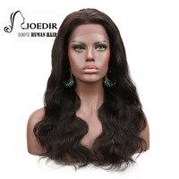 JOEDIR волос 360 Кружева Лобные Парики Для женский, черный предварительно сорвал объемной волны 150% Плотность бразильского натуральные волосы 100