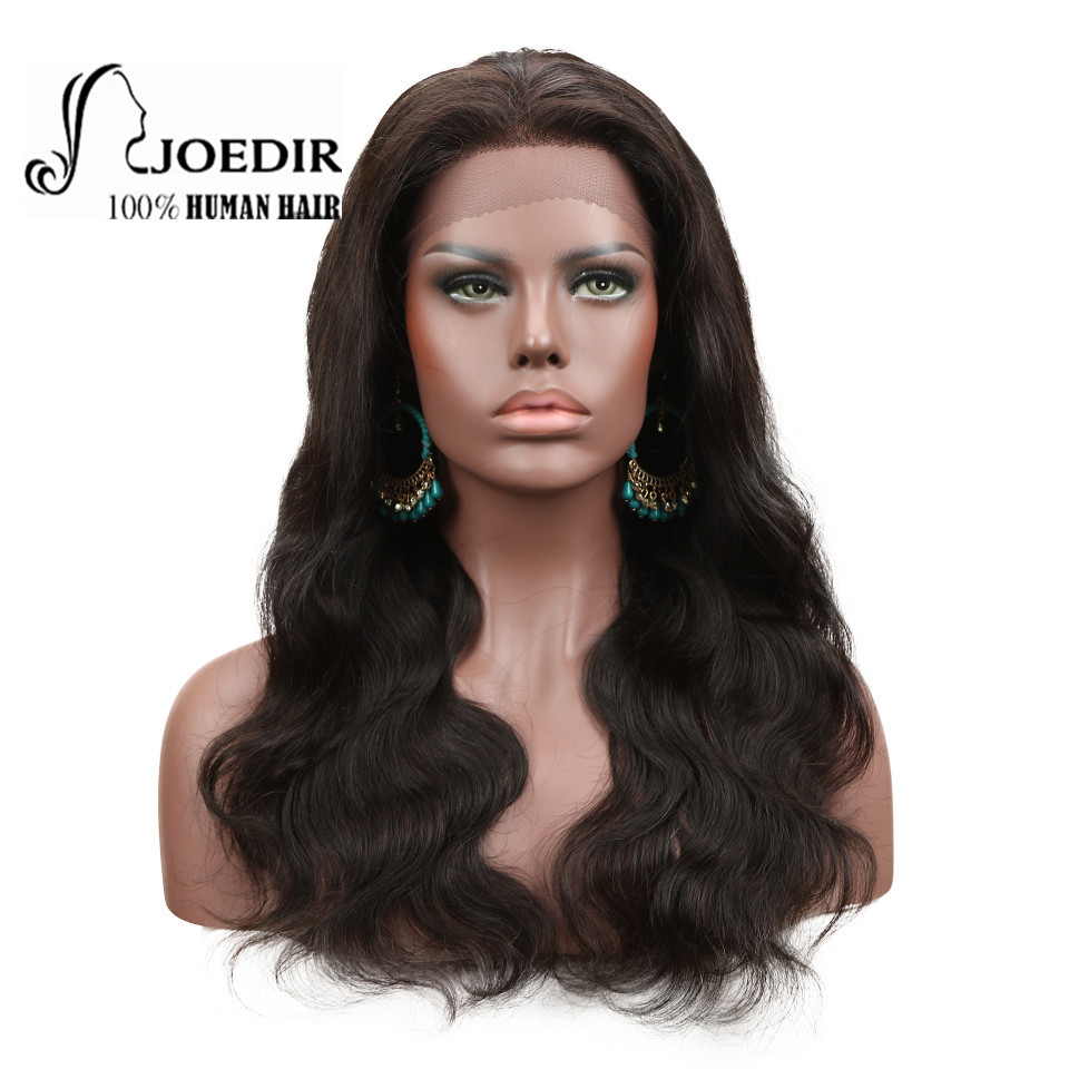 Human Hair Lace Wigs Lace Wigs Joedir Hair 360 Lace Frontal Wigs For Women Black Pre Plucked Body Wave 150% Density Brazilian Human Hair 100% Human Hair Wigs Beneficial To The Sperm