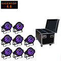Discount Price 330W High Power 18x18W Casting Aluminum 6in1 Led Par Light DMX 7/11 Channels Cheap Price 8in1 Flightcase Packing