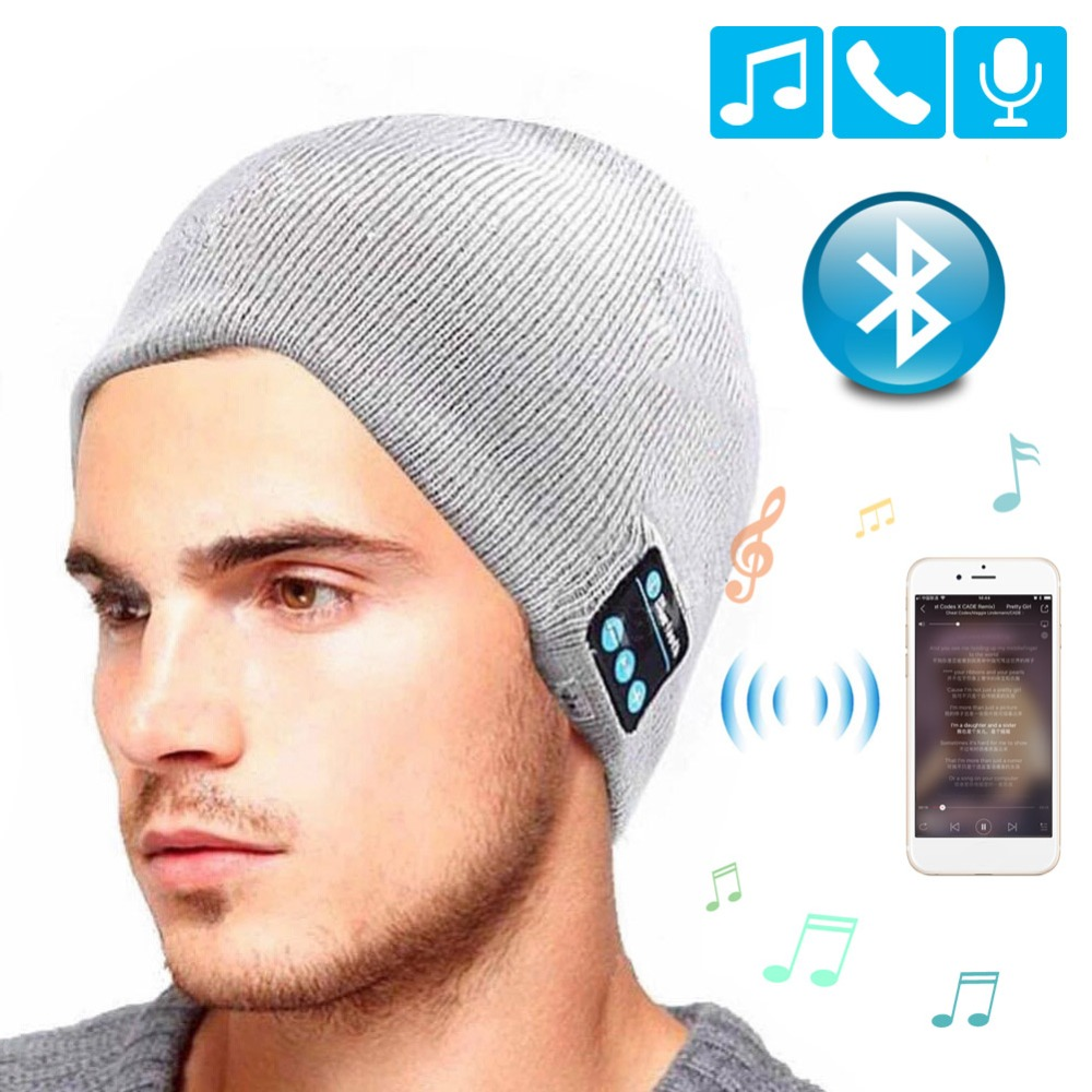 szkoston Wireless Bluetooth Headphones Music Hat Smart Caps Headset Earphone Warm Beanies Winter Hat with Speaker Mic for Sport ep2094ae navy blue teal women evening party pumps high heel peep toe satin bride bridesmaids bridal wedding shoes ivory white