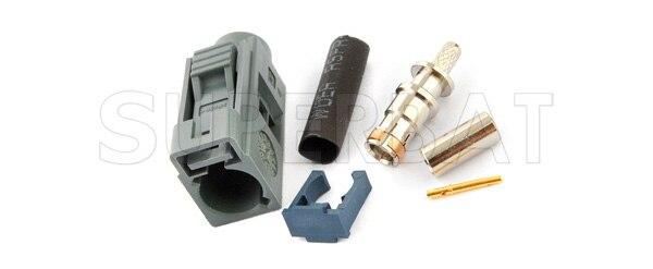 bilder für Superbat 10 Stücke Fakra stecker crimp Jack Frau Grau fernbedienung keyless entry Hf-anschluss für kabel RG316, RG174, LMR100