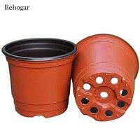 100 PCS Double Color Plastic Garden Flower Pot Mini Flowerpot Garden Plant Pot Unbreakable Plastic Nursery