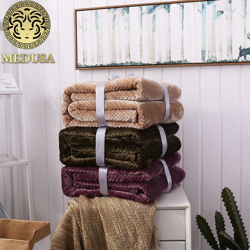 Medusa coral fleece knitted pineapple shells warm blanket bedspread burgundy camel ink blueMedusa coral fleece knitted pineapple shells warm blanket bedspread burgundy camel ink blue