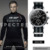 SINOBI Militar Relojes Deportivos Para Hombres Correa de Nylon Reloj Hombre Cronógrafo de Cuarzo Reloj de Pulsera Impermeable de James Bond 007 Reloj