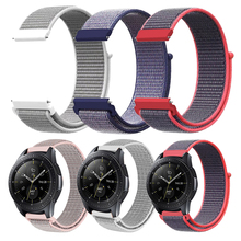 Купить с кэшбэком New Woven Nylon Sport Loop band for Samsung Galaxy Watch 46mm 42mm Wrist Strap Bracelet for Samsung Smart Watchband