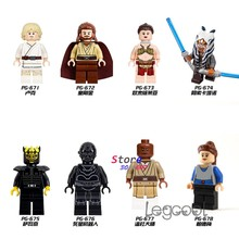 1PCS model bouwstenen starwars Luke Qui-Gon Jinn Leia Ahsoka Tano Savage Death Star Foelie Windu Padme speelgoed voor kinderen gift(China)