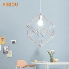AIBIOU Designer LED Pendant Light With Metal Lampshade For Dining Room White Pendant Lamp E27 Hanging Light Bar Luminaira стоимость