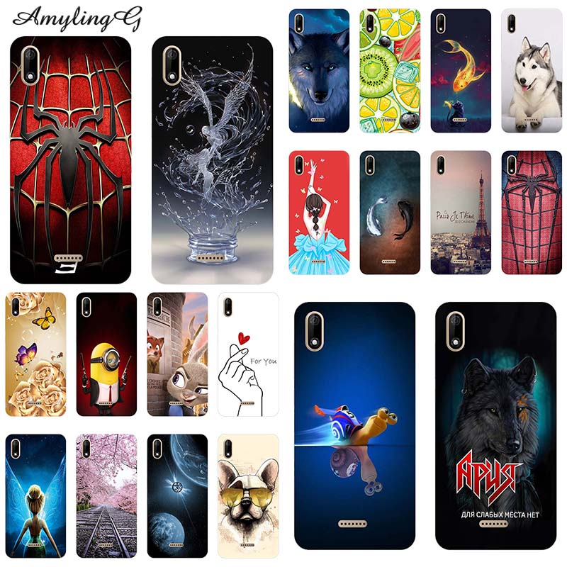 new arrivals fresh styles buy online Phone Cases For Wiko Y60 Y 60 5.45-inch Case Print Rose Wolf Patterned  Cover Soft Silicone Phone Back Shell Fundas Para