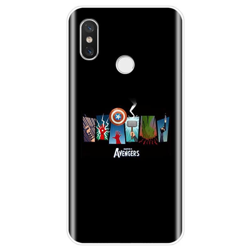 Vengadores de Marvel héroes cubierta de silicona suave TPU caja del teléfono para xiaomi 4 4S 5 5S 5S más 5C 6 6X8 8Pro 8SE 8 lite 9 9SE MAX 2 3