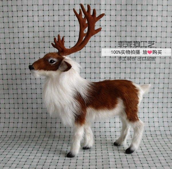 simulation cute deer 22x7x27cm model polyethylene&furs reindeer model home decoration props ,model gift d807 simulation male deer 18x25cm model polyethylene