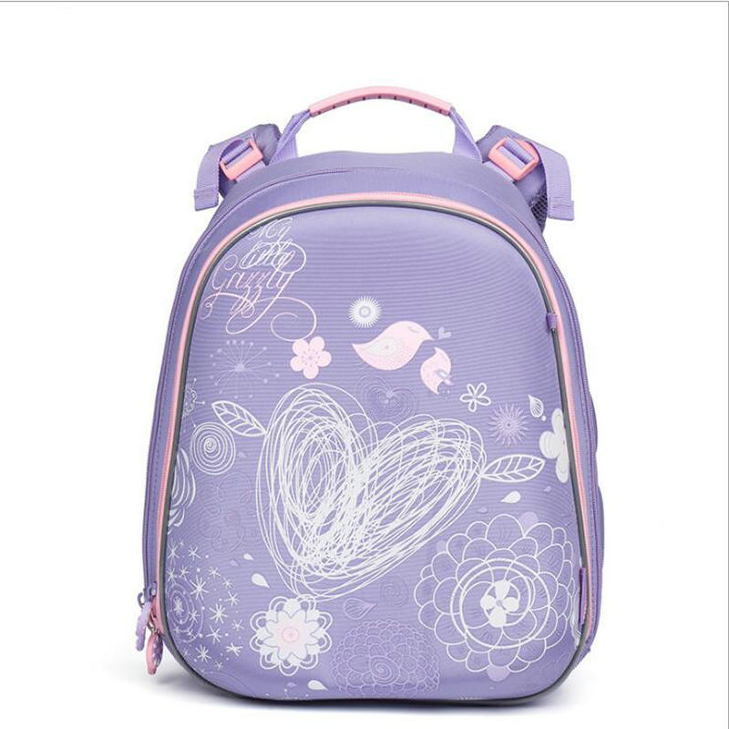 NEW Waterproof Orthopedic Children School Bags For Girls Cartoon Geometric flower Prints Kids School Backpacks Mochila