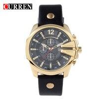 Curren Fashion Mens Watches Top Brand Luxury Geniune Leather Strap Quartz Watches Men Male Casual Sport