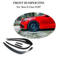 Carbon Fiber Decoration For Mercedes Benz E Class W207 E350 E400 E550 Coupe Convertible 2014 2016 Front Bumper Fender Trim Vent