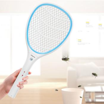YAGE elektryczna packa na komary moskitiery zwalczanie szkodników łapka na owady odrzuć rakieta pułapka narzędzie domowe 2200V porażenie prądem 400mAh tanie i dobre opinie Z Oświetleniem 475mm 3-warstwowa 2200 v 6-8 Godzin Baterie YG-5637 110-240 v 210mm 310g 0 5W Mosquitoes moths crickets flies and other flying insects