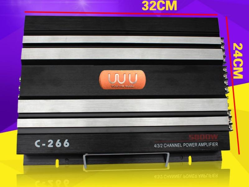 Car amplifier in stereo amplifiers