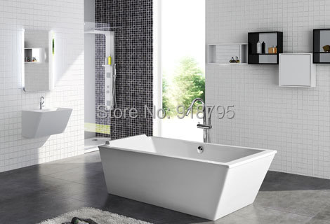 1900X800X640mm CUPC Approval Acrylic with Fiberglass Resin bathtub Freestanding Seamless Soaking Tub RS6533