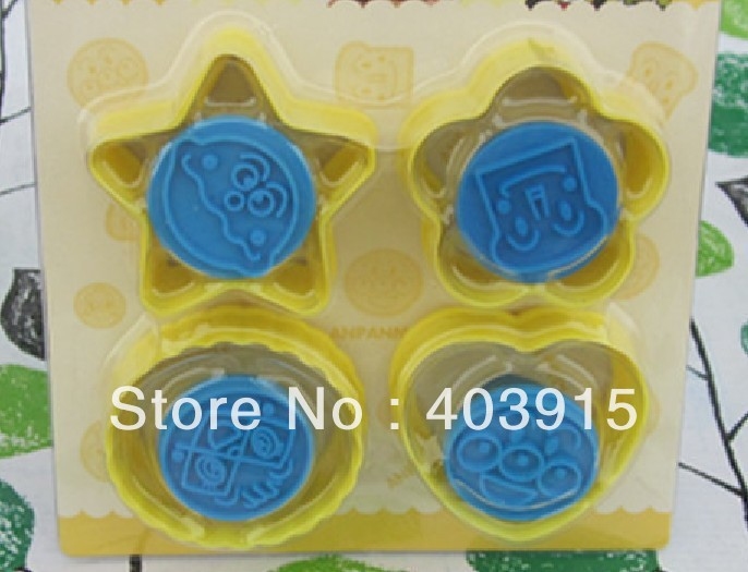 Free Shipping 4 designs Anpanman molds, Biscuit molds