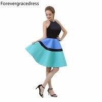 Forevergracedress реальные фотографии разноцветный коктейльное платье Мода по колено Короткие Homecoming партии платье плюс Размеры