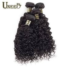 Uneed Malaysian Water Wave Hair Bundles 100% Human Hair Weaving 1/3/4 Bundle Deals Remy Hair Extension Natural Color Wave(China)