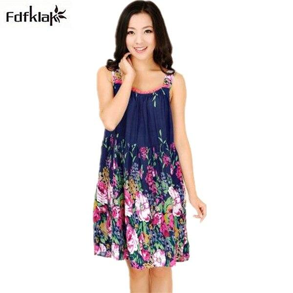 Plus Size Nightgowns Women Sexy Spaghetti Strap Night Dress Summer Elegant Night Gowns Ladies Sleepshirts Cotton Sleepwear