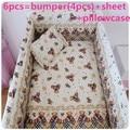 Promotion! 6/7PCS Baby crib bedding set kids 100% Cotton Comfortable Bedding Set for kit berco ,120*60/120*70cm
