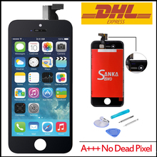 20 Pcs /Lot Touch Screen Digitizer & LCD Assembly pantalla ecran Replacement For iPhone 4S White Black& DHL