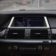 Interior Mouldings Car Navigation Screen Display Frame GPS Decoration Trim Strip Car Accessory for BMW X5 E70 X6 E71 Car styling