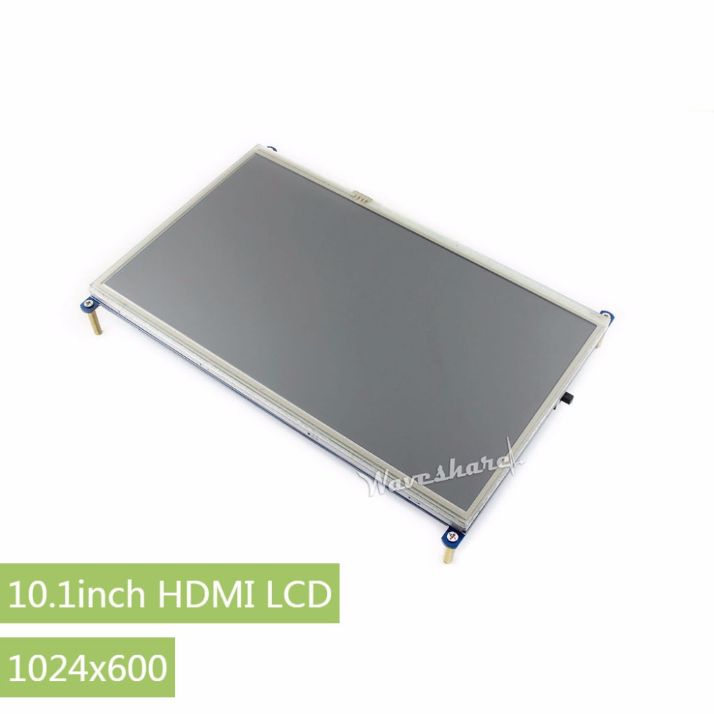 Parts RPi 10.1inch Resistive Touch Screen LCD 1024*600 for any Version of Raspberry Pi+Back light control + lower power consumpt 3 5 inch touch screen tft lcd 320 480 designed for raspberry pi rpi 2