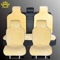 Capas de piel en el asiento de los coches fundas para coches todo asientos conjunto 5 unids color amarillo de piel falsa caliente calienta 2016 ventas i014-5