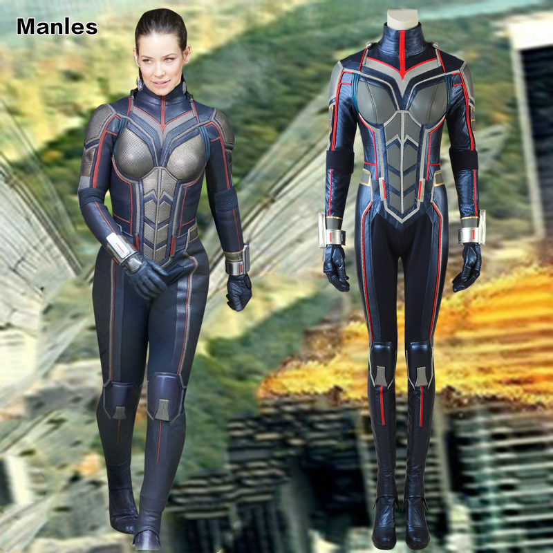 New Ant Man and the Wasp Trailer #2 Cosplay Costume Halloween Jumpsuit Bodysuit Christmas Party Clothing Gloves Women With Boots-in Movie & TV costumes from Novelty & Special Use    1