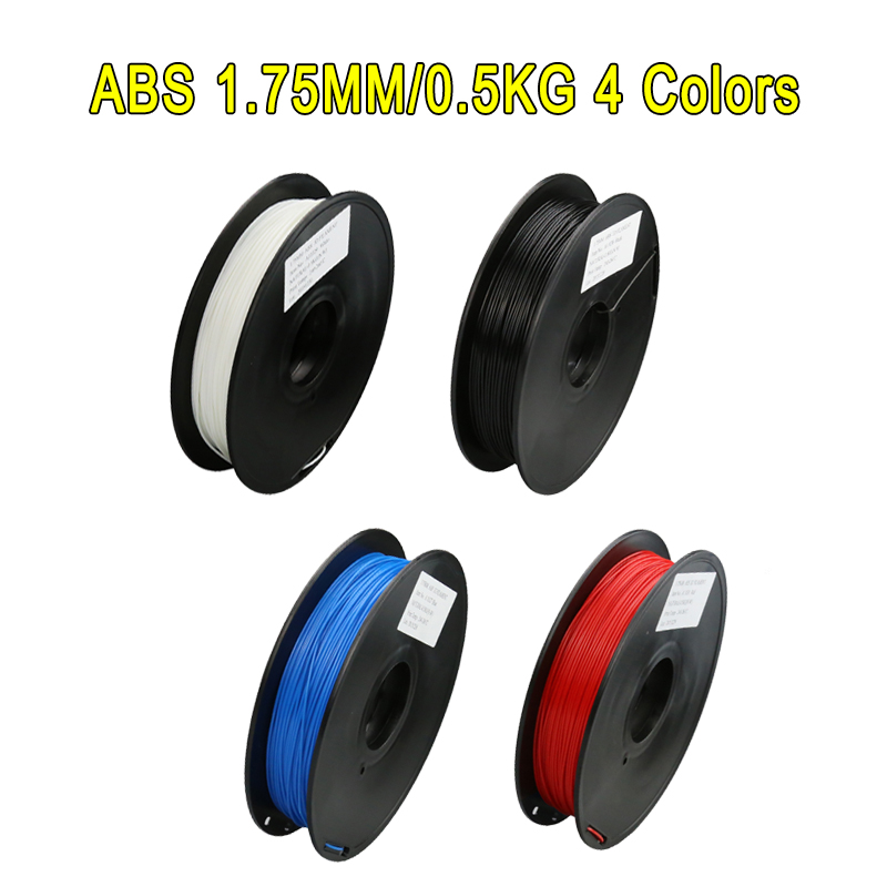 4 Color ABS Option1 75 0 5kg Roll Plastic Rod Ribbon Consumables Material Refills For MakerBot