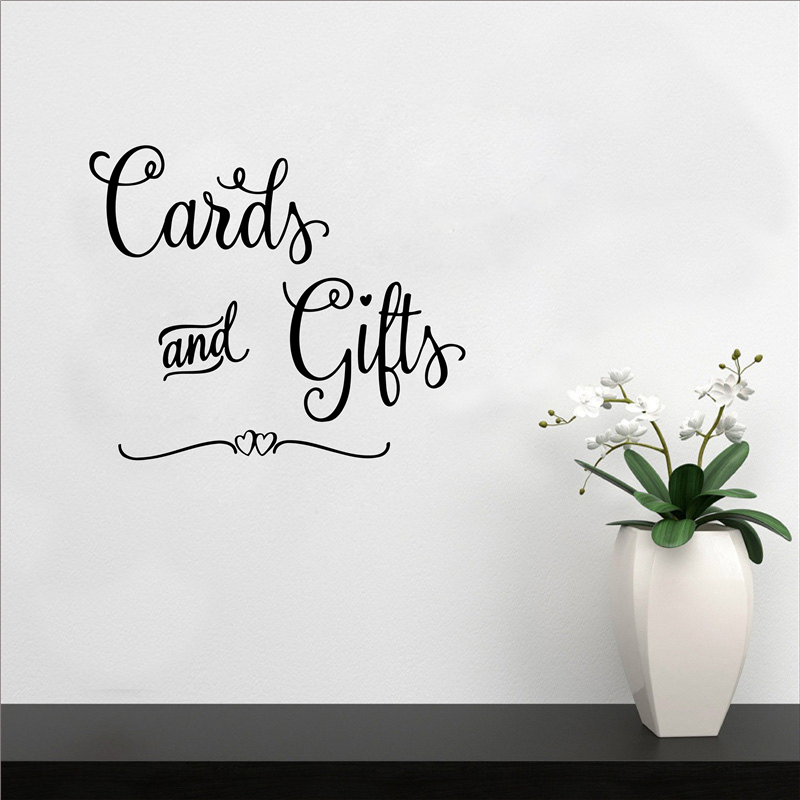 Cards and Gifts wall stickers