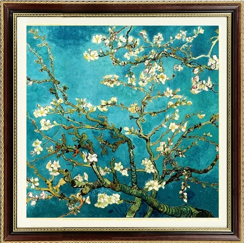 Needlework, DIY Stitch Cross, Set untuk sulaman kit Van Gogh Classic Apricot Flower Printed Pattern Cross-Stitch painting gift