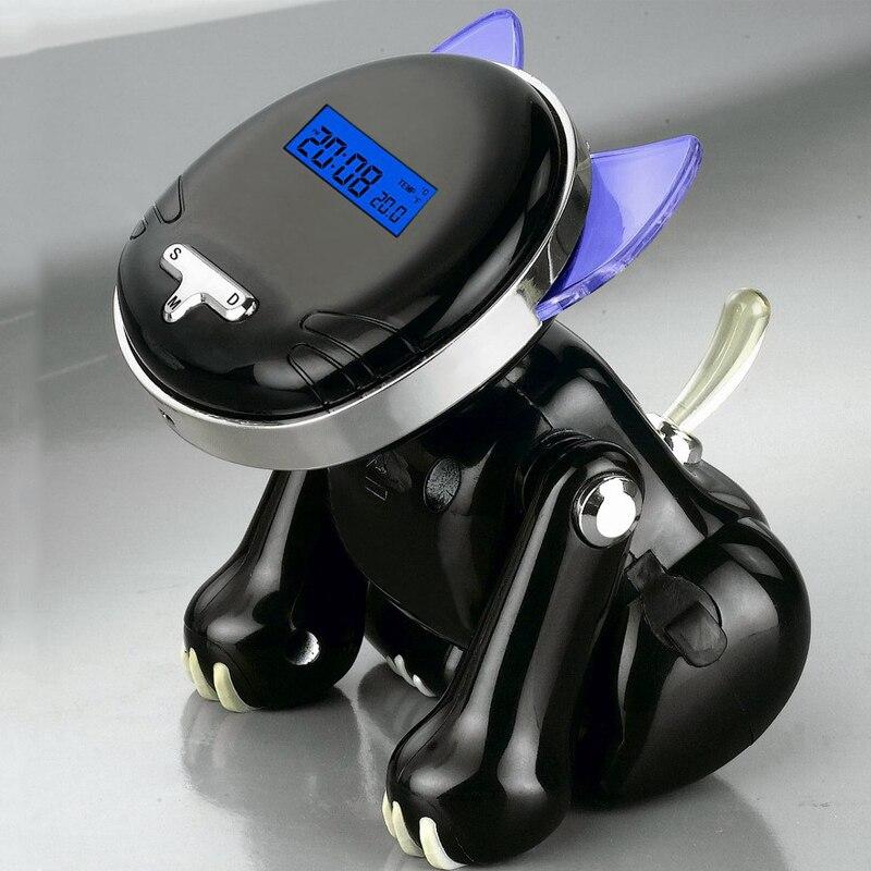 12/24 stunden digitale smart alarm uhren für schlafzimmer mit batterie-backup, kind Wie Niedlich Katze Stimme Sprechen Schreibtisch Uhr für Blinde